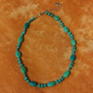 """Chaps Polished Faux Turquoise Beaded 18"""" Necklace"""